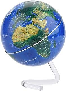 Magnetisk levitation flytande glob, 10 cm antigravitationsflytande roterande världskarta glob med stativ för barn pedagogi...
