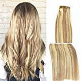 Vario Clip in Hair Extensions 18Inch 7pcs 70g Set #18/613 Mixed Bleach Blonde