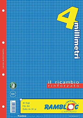 Ricambio rinforzato Rambloc Pacco da 4 Ricambi A4 4mm. (160 fogli totali)