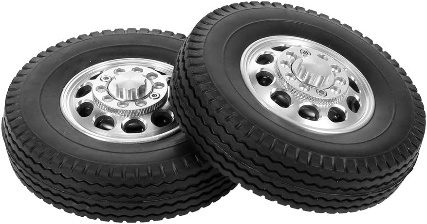 2//4Stck Metall 10 Speichen Vorderrad Felge Hub für 1:14 Tamiya Traktor RC Auto