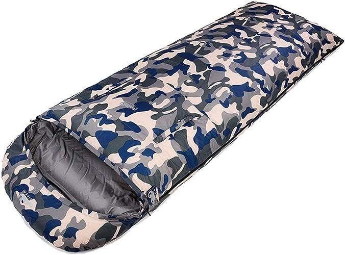 FIDIKER Sac de Couchage Adulte Unique épais imperméable Main Froide imperméable à l'eau Peut être Main légère pour Portable randonnée en Plein air Camping en Plein air