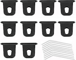 12 Pares de Ganchos de Toldo de Camping Accesorios de Toldo RV Ganchos en Forma de S Colgadores de Luz de Fiesta RV para Navidad Tienda de Acampada Materiales Interiores y Exteriores