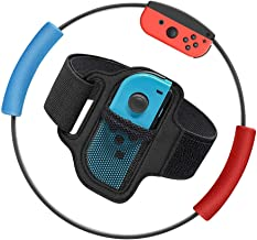 GALGO Ring-Con Grips and Leg Fixing Strap for Nintendo Switch Ring Fit Adventure, Joy-Cons Controller Game Accessories, Ri...