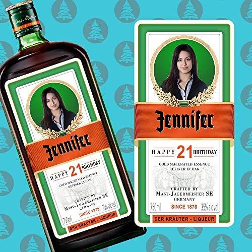 Botella de licor personalizada con el nombre, foto y mensaje que quieras, ideal para regalar el día del padre, día de la madre, aniversario, regalo personalizado, cumpleaños