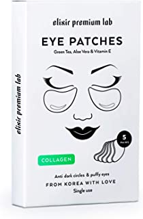 Collagen Eye Patches - Moisturizing Under Eye Pads - Anti Puffines & Dark Circles Spa Treatment - Best Hydrogel Eye Moisturizer for Women & Men - Gel Patch for Dry Skin Under Eye Zone (1 Pack)