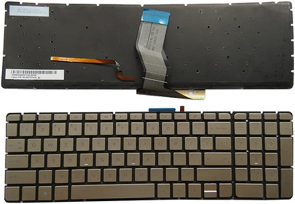 Black with Backlit KEYSHEN Laptop Notebook Replacement Keyboard for HP 17-W000 17-W100 17-W200 17T-W000 17T-W100 US Layout with Backlit