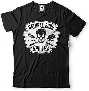 4571c078dbbf91 Silk Road Tees Griller T-Shirt da Uomo di Cottura Divertente BBQ Grilling  Tee Shirt
