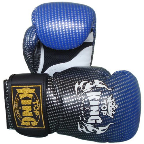 Top King Air Super Star TKBGSS-01-BU - Guantes de muay thai, color azul