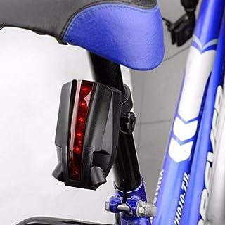 Fahrrad Rücklicht 5 LED 2 Laser Bicycle Blitz Rückleuchte Batterieleistung