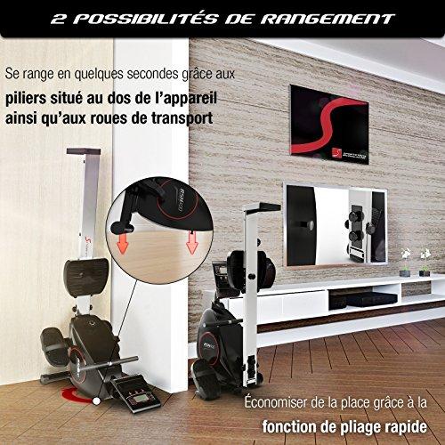 Sportstech RSX400 Rammeur - Marque Allemande de qualité -Video Events & multijoueur APP, Ceinture...
