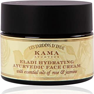 Kama Ayurveda Eladi Hydrating Ayurvedic Face Cream with Pure Essential Oils of Rose and Jasmine, 50g
