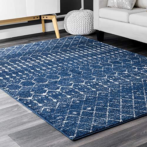 "nuLOOM Moroccan Blythe Area Rug, 6' 7"" x 9', Blue"