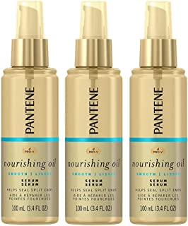 3x Pantene Pro-v Nourishing Oil Smooth Lisses Serum Help Split End - Hair Treatment