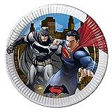 23cm Batman Vs Superman Party Teller, 8Stück