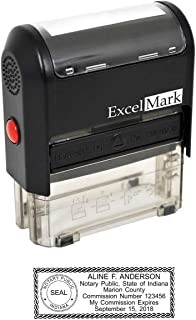 ExcelMark Self Inking Notary Stamp - Indiana