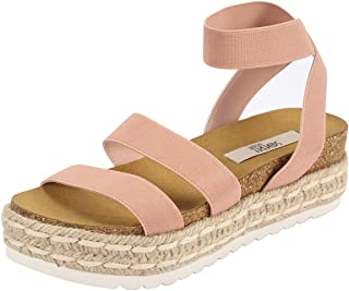 Sofree Women's Ankle Strap Wedge Platform Espadrilles Heel Sandals