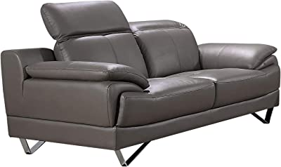 Miraculous Amazon Com Natural Greige Leather Loveseat In Dove Gray Alphanode Cool Chair Designs And Ideas Alphanodeonline