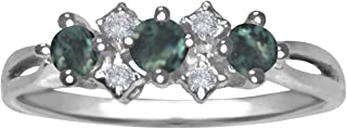 Natural Alexandrite Color Change Diamond Ring in 14K Gold
