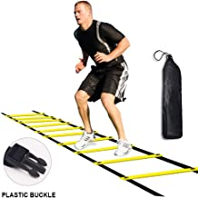 Kxuhivc Ladder for Kids Teens Speed Agility Training Ladders with Carrying Bag 12-Rung Adjustable Jumping Step Rope Exercise Outdoor Athletic Physical Training Football Sports Drills