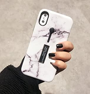 for iPhone7 / iPhone8 Case, Omio Marble Stone Pattern Cover Ring Grip Holder Kickstand Finger Circle Strap Stand IMD Ultra Thin Slim Fit Smooth Surface Dustproof Shell for Apple iPhone 7 / iPhone 8