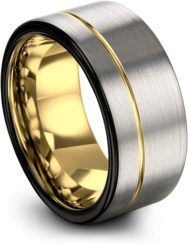 Midnight Cheap sale Rose Collection Financial sales sale Tungsten Wedding Band 12mm Men for Ring