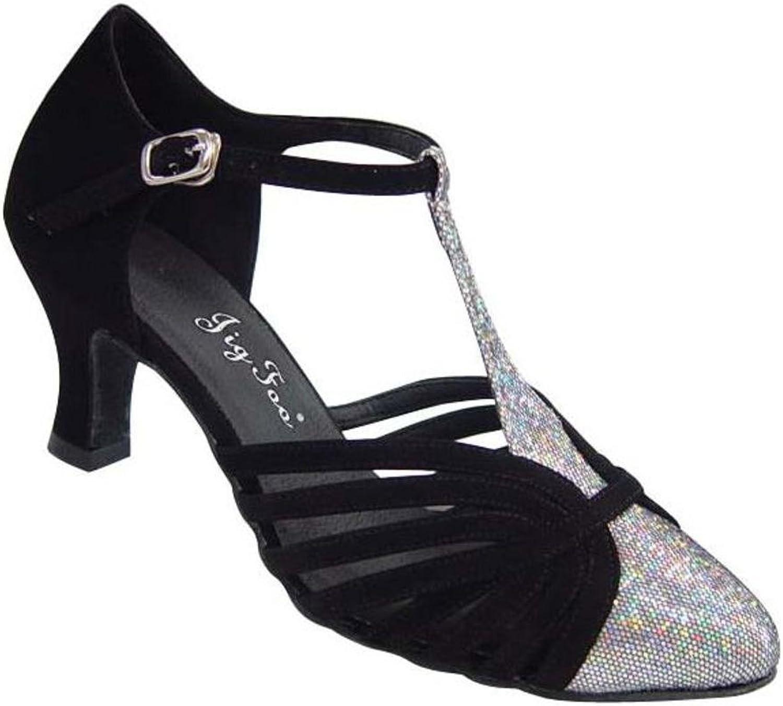 Ballroom Dancing Damenschuhe Schuhspitze Bindung Danc Weiche Tanzschuhe am am am Ende des  e248eb