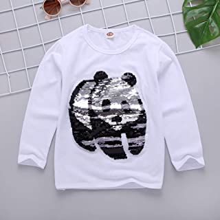 Nobrand 2020 Summer Fashion Color Changing Clothes Demi Flip Sequin Girls T-Shirt Children's Short Sleeve Tops Kids Cotton Tees