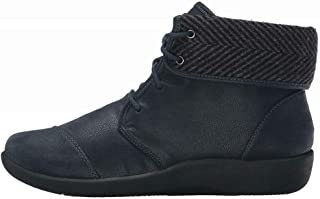 Womens Sillian Frey Suede Round Toe Ankle Fashion Boots, Navy, Size 5.5