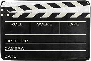 Tapis de Salle de Bain Tapis de Sol rétro pour Tapis de cinéma cinéma 23,9 x 15,7 Pouces