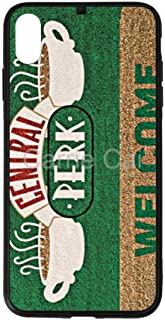 Central Perk iPhone Case XS MAX Shatter-Resistant Anti-Fingerprint Scratch-Proof Mobile Phone Case TPU Phone Case + Tempered Glass Case