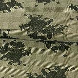 Glencheck-Karo Blumen Stickerei schwarz Modestoffe
