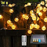 Solar String Lights Outdoor, Outdoor Solar Lights 40 Ft 80 LEDs Waterproof Globe String Lights with Remote, Solar String Lights for Christmas Tree Patio Gazebo Yard Porch Outdoor Decor(Warm White)