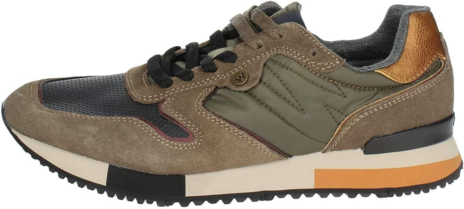 Wrangler shoes men Sneaker Forest Suede in camoscio Beige WM182115-TAU