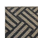 Outdoor Teppich Clyde für Terrasse und Balkon | wetterfester Sommerteppich für Ihren Garten | robustes Flachgewebe für außen und innen | modernes Design | Modell Hampton mit Korb Muster 200x290 cm - 2