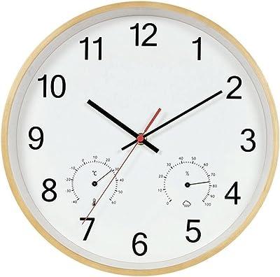 reloj de pared Personalidad Creativa Dormitorio de Oficina de Madera Escalera Cocina de Pasillo 35 Cm Rollsnownow (Color : A): Amazon.es: Hogar