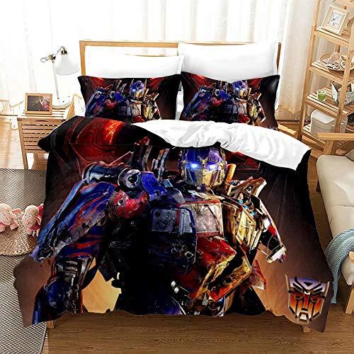 Supstar Duvet Cover Set Transformers Boys Teens Optimus Prime Bedding Sets for Bedroom Decor Queen TB9