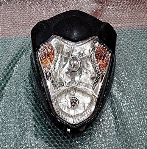Schwarz Street Fighter Scheinwerfer Verkleidung Motorrad Universal Kopf Lampe