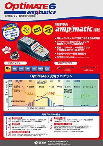 tecmate『OptiMATE6Ampmatic(TM187)』