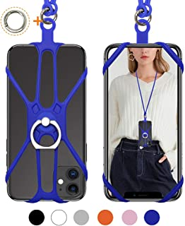SHANSHUI Cell Phone Lanyard, Soft Detachable Silicone Neck Necklace Holder Strap..