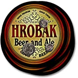 ZuWEE Brand Classic Beer & Ale Coaster Set Personalized with the Hrobak Family Name