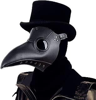 Welltop Schnabelmaske, Mittelalter Pest Maske Doktor Arzt Kopfmaske Steampunk Kostüm Zubehör für Erwachsene Halloween Party Fasching Karneval