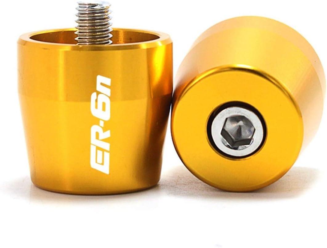 Graciella Fit for Kawasaki ER6N ER6F ER6N ER6F 2006-2016 Guidon Poign/ées Embouts de Guidon Bouchon Coulissant Accessoires Moto CNC Color : Gold