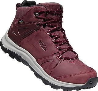حذاء برقبة للسيدات من KEEN مصنوع من الجلد المقاوم للماء بارتفاع متوسط