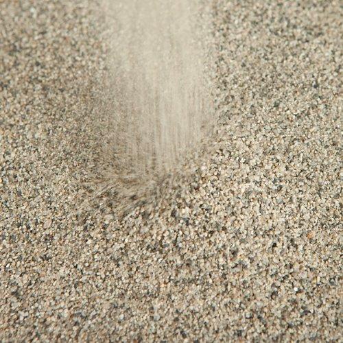 【芝生用 目砂 乾燥砂】 天竜川中流域産 洗い砂 10kg (6.6L)【放射線量報告書付き】