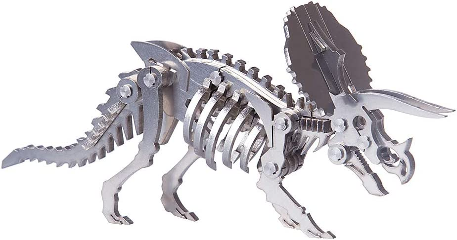 Haoun 3D Metal Puzzle DIY Stainless store Assembly Model Excellent Dinosaur Ste