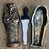 BZEAA Adornos Egipcio Rey Faraón Sarcófago Ataúd con Mamá Estatua Estatua En Miniatura Decoración En Miniatura Modelo Miniatura Decoración del Hogar (Color : 2)