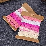 Socobeta Encantadora Cinta de Envoltura de Color Robusto Cinta de Zigzag Sombrero de Vestido de Novia para Costura Artesanía Cojín Ornamento(9