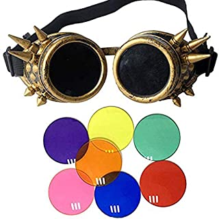 Lelinta Steampunk Goggles Welding Gothic Cosplay Vintage Rustic Goggles