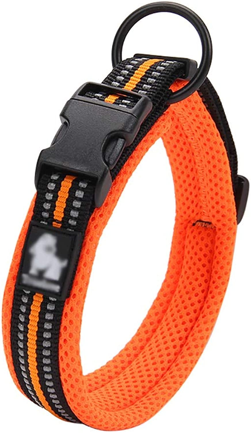 Pet Supplies Collars Walking the dog Small dog Medium dog Large dog Reflective strip Soft comfortable Convenient safe (color   B, Size   XL 5055  2.5CM)