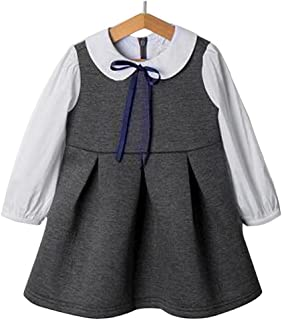 子供 ドレス フォーマル スーツ Emfay 韓国子供服 キッズ ドレス ワンピース 白襟 卒業式 入学式 七五三